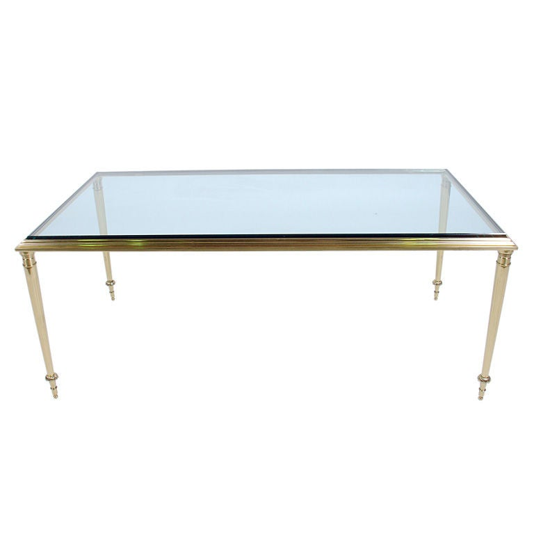 Neoclassical Brass Rectangular Coffee Table At 1stdibs