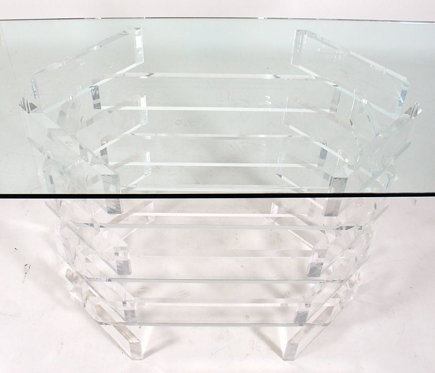 Sculptural Lucite Console Or Dining Table Base At 1stdibs