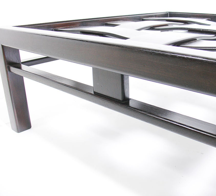 Large scale square coffee table at 1stdibs Large square coffee table