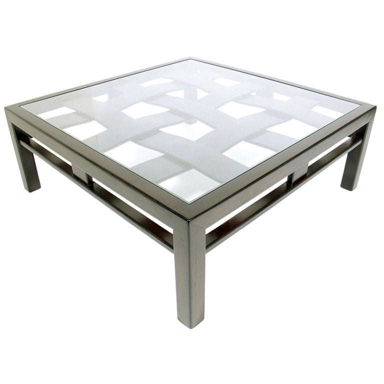 Large Square Coffee Tables Large Square Coffee Table Handcrafted Utilizing Parquet At 1stdibs