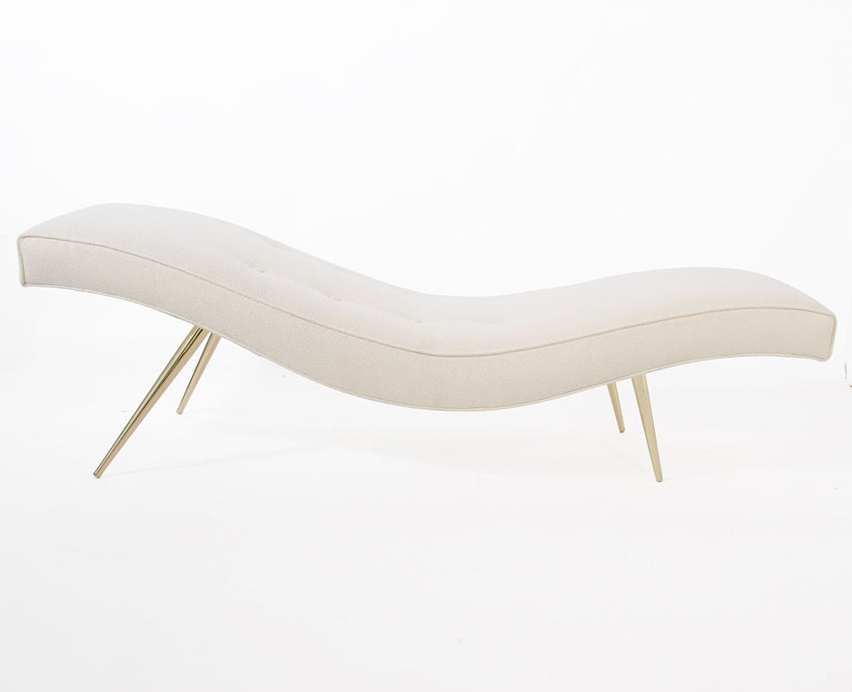 Modern chaise lounge circa 1950 39 s at 1stdibs for 1950 chaise lounge