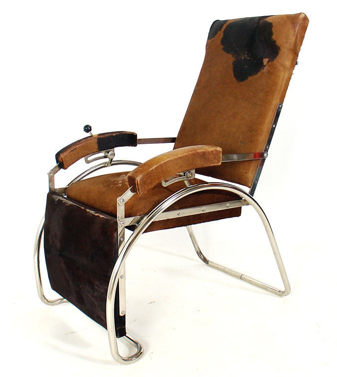 French Art Deco Reclining Lounge Chair At 1stdibs