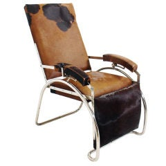 French Art Deco Reclining Lounge Chair