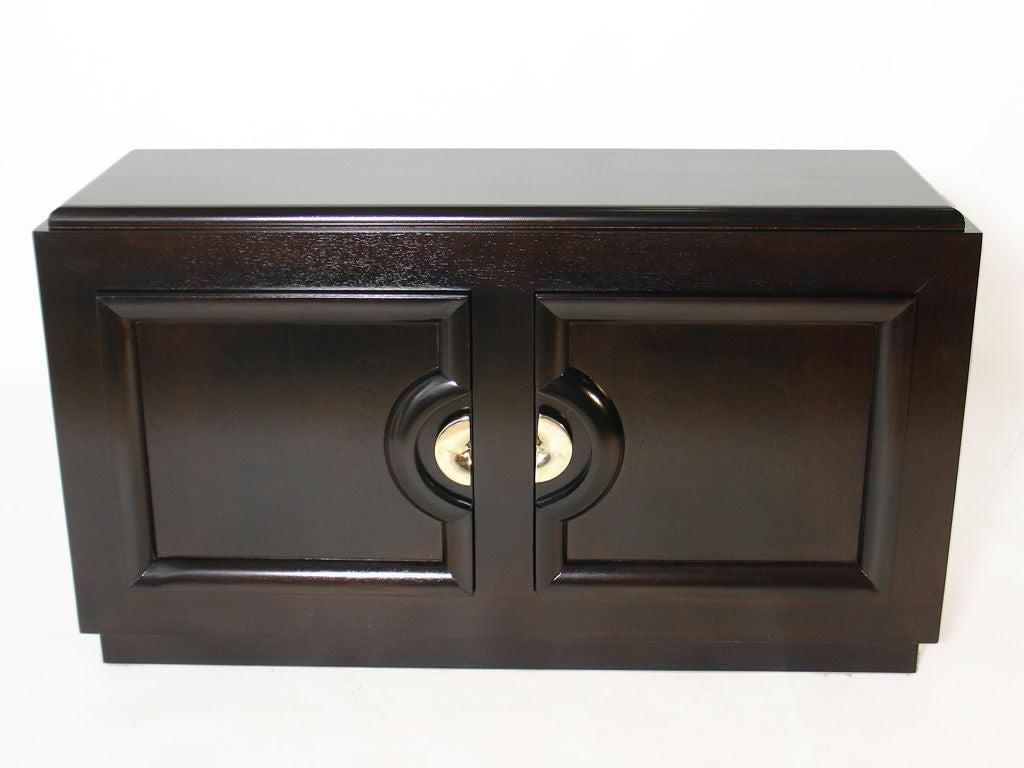 petite modern credenza or media tv cabinet at 1stdibs. Black Bedroom Furniture Sets. Home Design Ideas