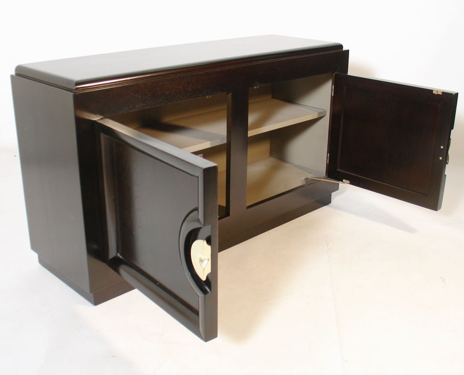petite modern credenza or media tv cabinet at 1stdibs. Black Bedroom Furniture Sets. Home Design Ideas