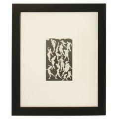 Original Cubist Male Nudes Drawing circa 1930's