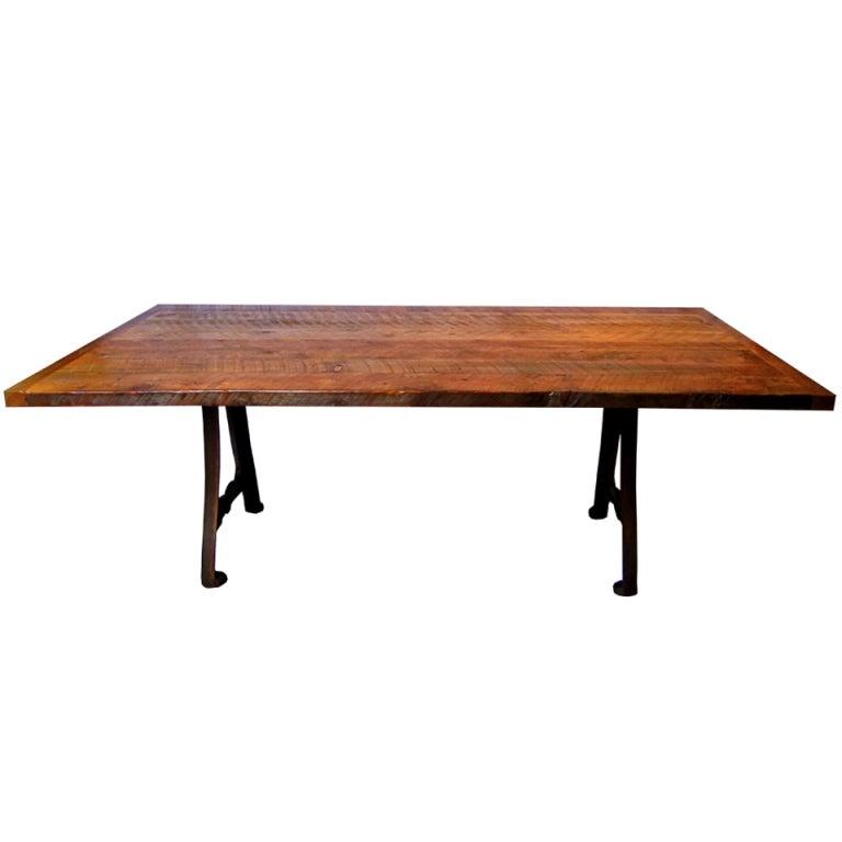 custom barn wood table at 1stdibs