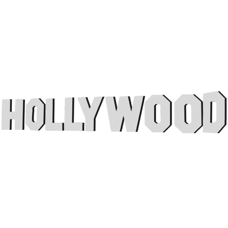 HOLLYWOOD Sign Hollywood Drawing Coloring Page