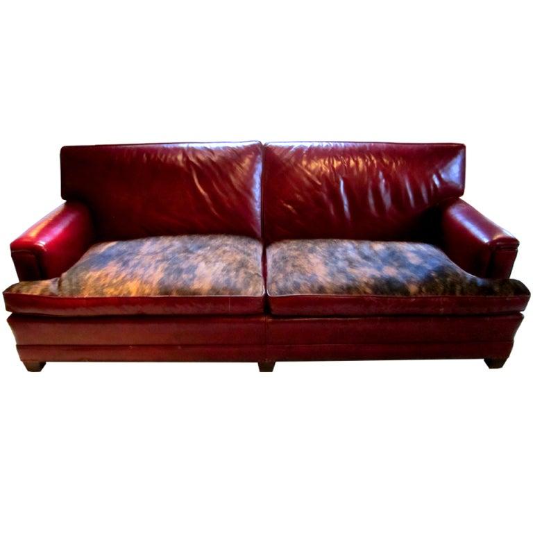 Vintage Leather Sofa At 1stdibs