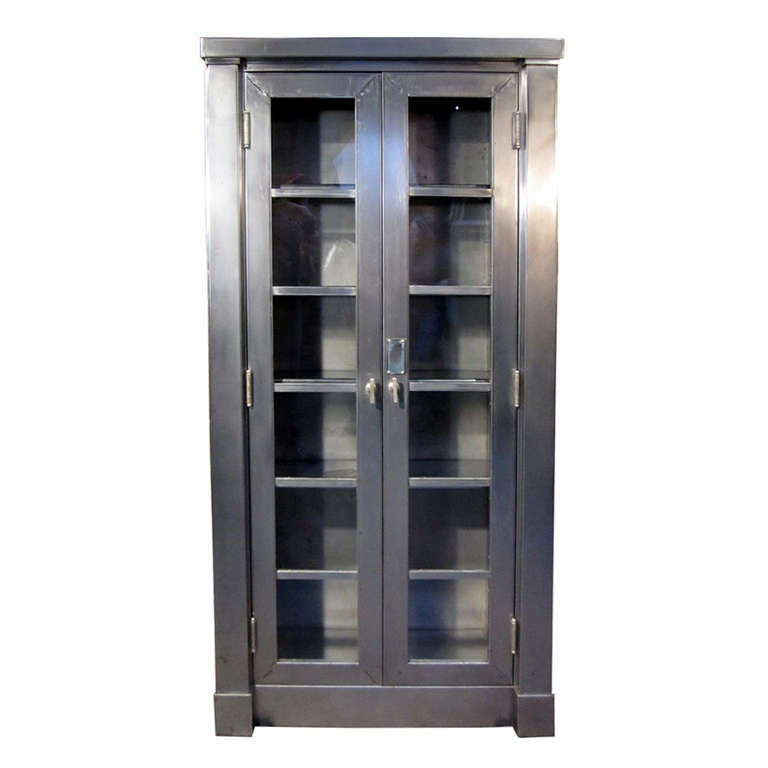 Arts and crafts style steel cabinet at 1stdibs for Arts and crafts storage cabinet