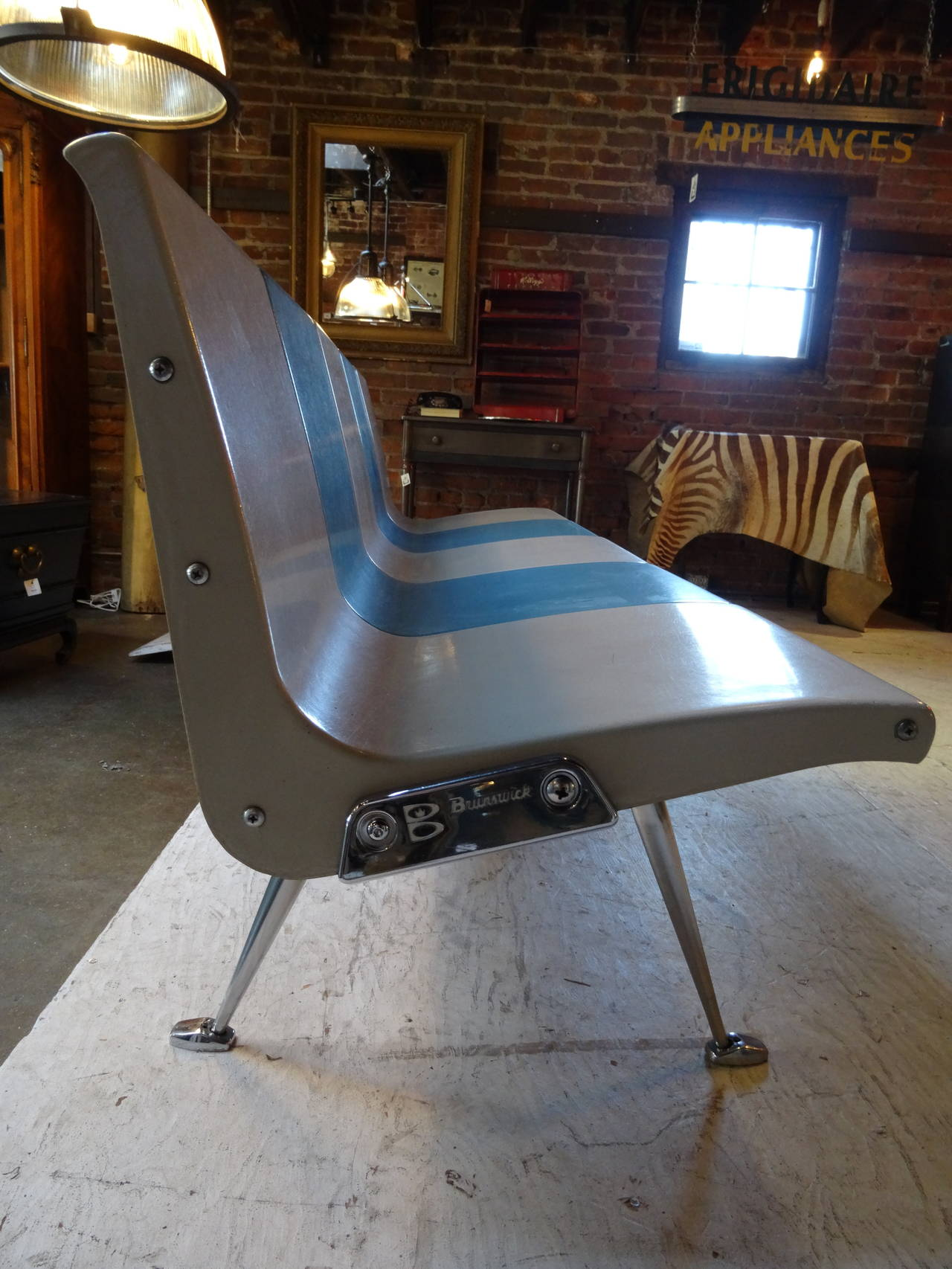 Brunswick Bowling Bench For Sale At 1stdibs