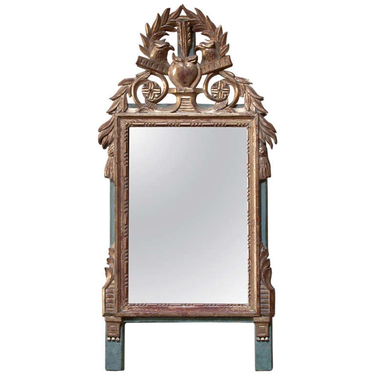 french provincial mirror small provincial louis xvi style gilt mirror for 1106