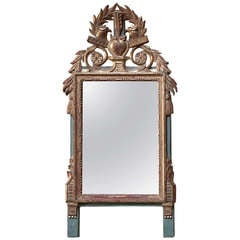 Small French Provincial Louis XVI Style Gilt Mirror