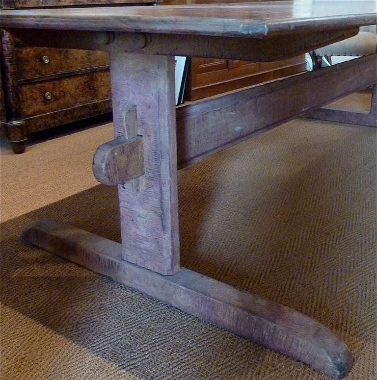 Swedish Large Rustic Scandinavian Trestle Table For Sale