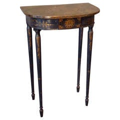 Small 19th Century Italian Neoclassical Painted Console Table