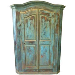 18th Century Scandinavian Painted Cabinet