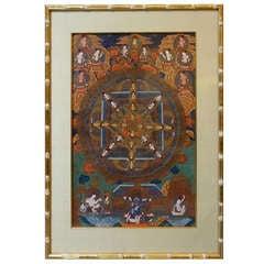 Set of Three 19th Century Tibetan Thankas