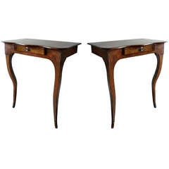Small Pair of  Louis XV French Provincial Console Tables