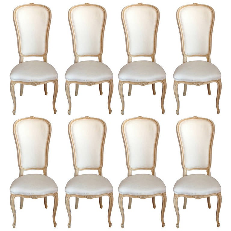 set of eight provincial dining chairs at 1stdibs