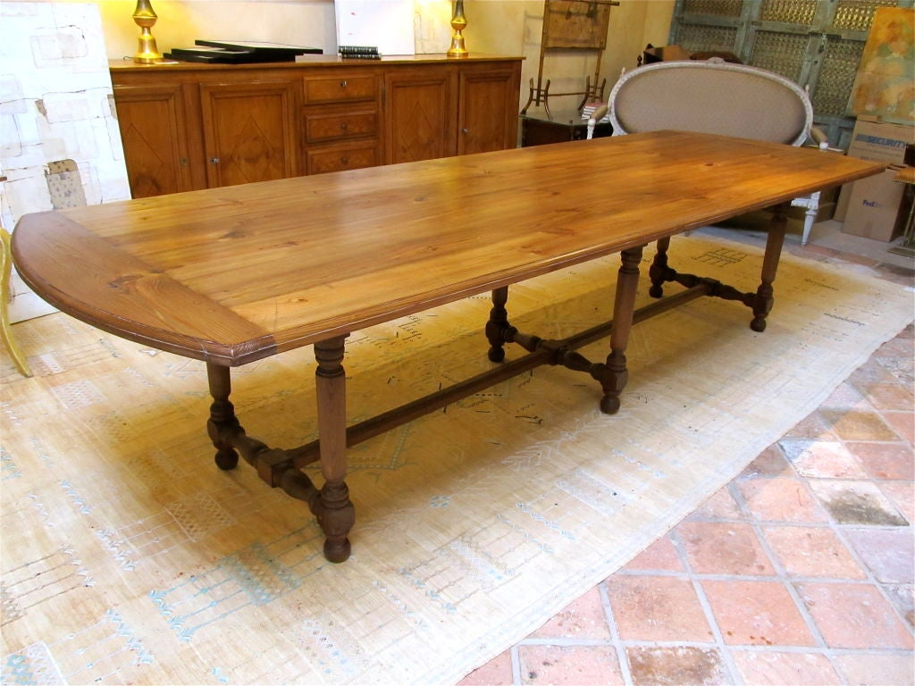 French Provincial Farmhouse Dining Table Image 2