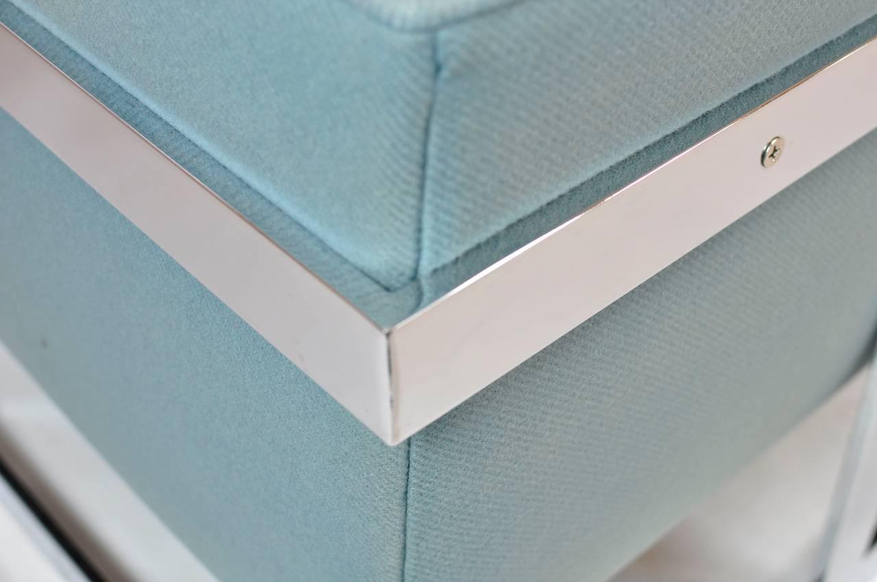 Milo Baughman Large Cube Lounge Chairs 6