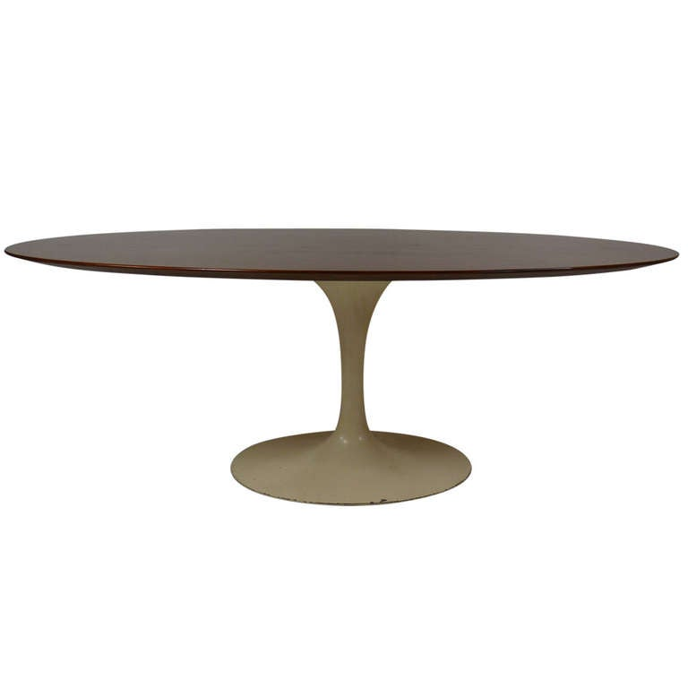 Eero saarinen for knoll oval dining table at 1stdibs - Oval saarinen dining table ...