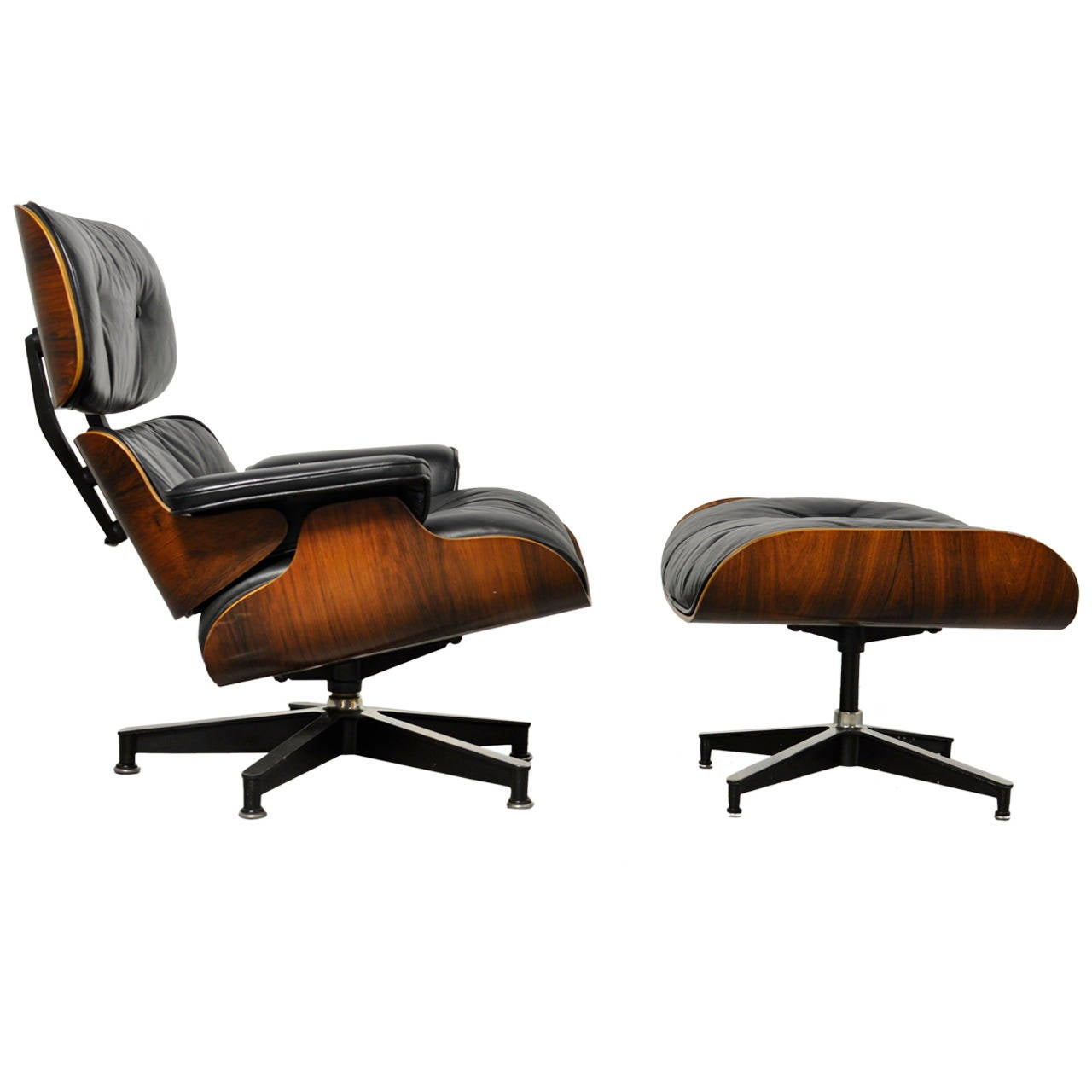 vintage rosewood lounge chair and ottoman by charles eames for sale at 1stdibs. Black Bedroom Furniture Sets. Home Design Ideas