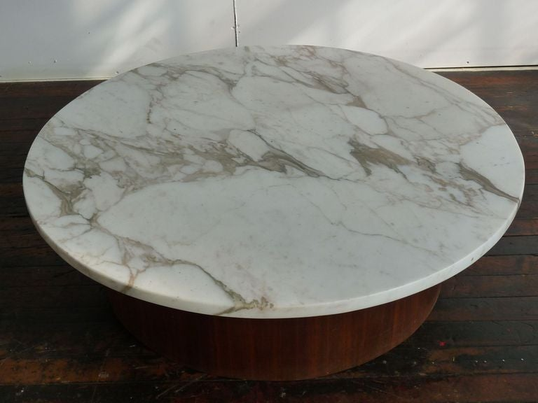 Marble Top : Marble Top Mid Century Coffee Table at 1stdibs