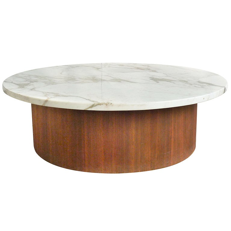 Marble top mid century coffee table at 1stdibs Coffee tables with marble tops