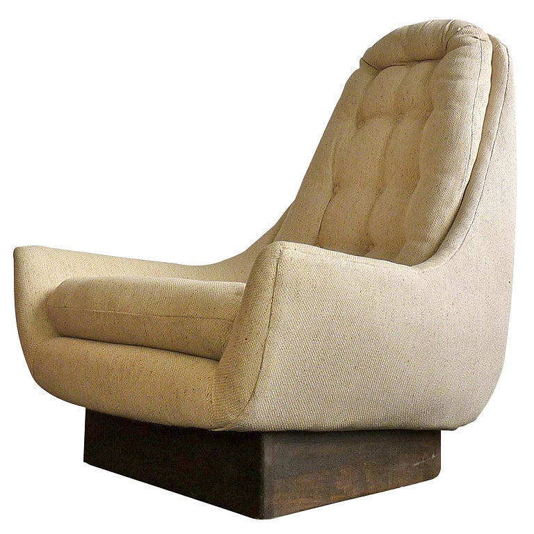 High Back Swivel Lounge Chair At 1stdibs