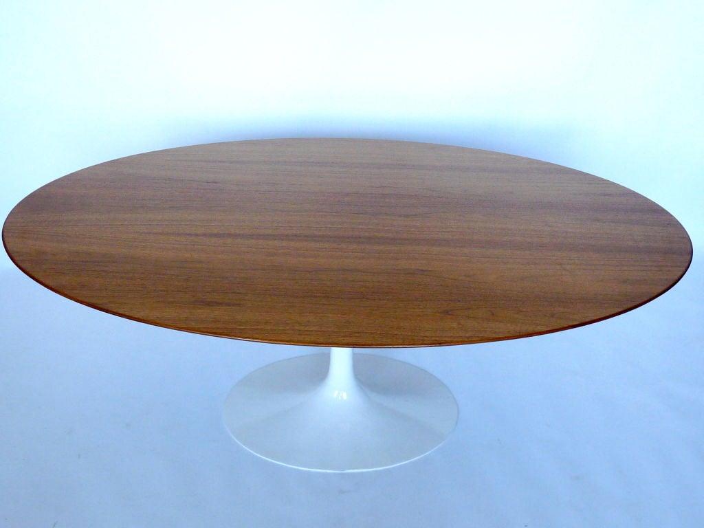 Saarinen knoll vintage oval dining table at 1stdibs