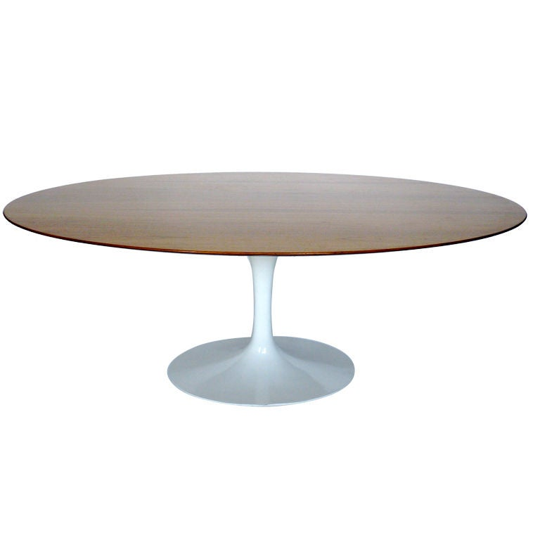 Saarinen oval dining table knock off multi gym circuit for Dining table weight