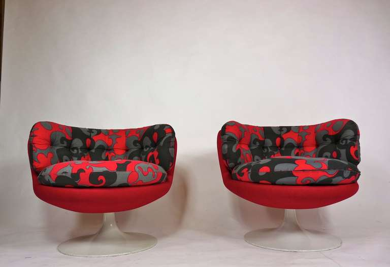 Mid-Century Modern Vintage 1970s Swedish Pop Chairs For Sale