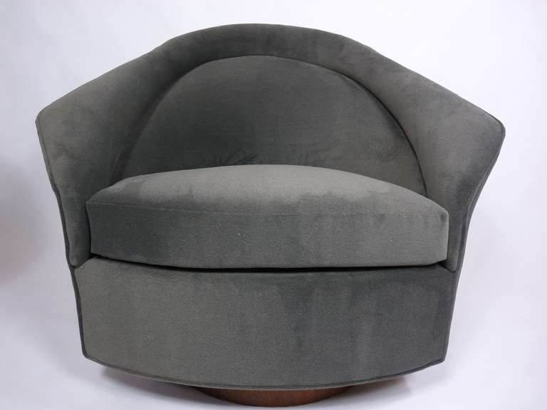 Pair Of Swivel Lounge Chairs By Adrian Pearsall At 1stdibs