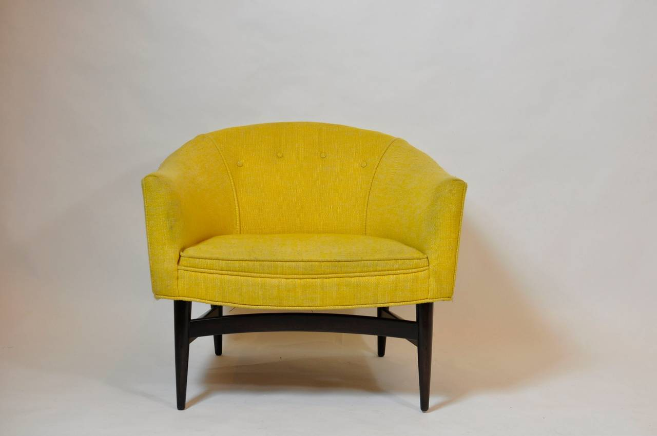 Petite lounge chair designed by Lawrence Peabody.