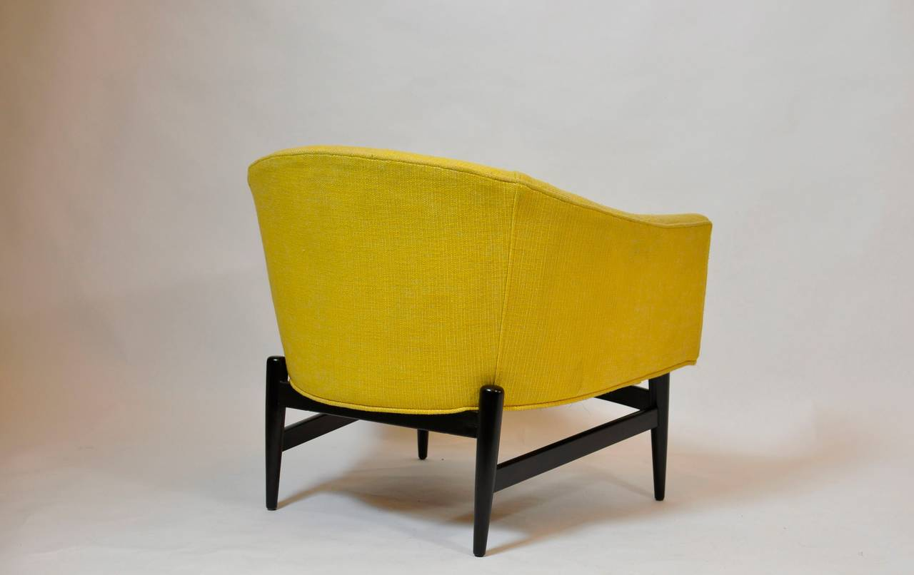 American Petite Lounge Chair Designed by Lawrence Peabody For Sale
