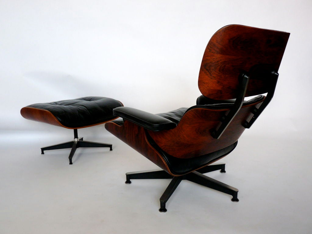Rosewood eames lounge chair and ottoman for herman miller - Herman miller eames lounge chair and ottoman ...