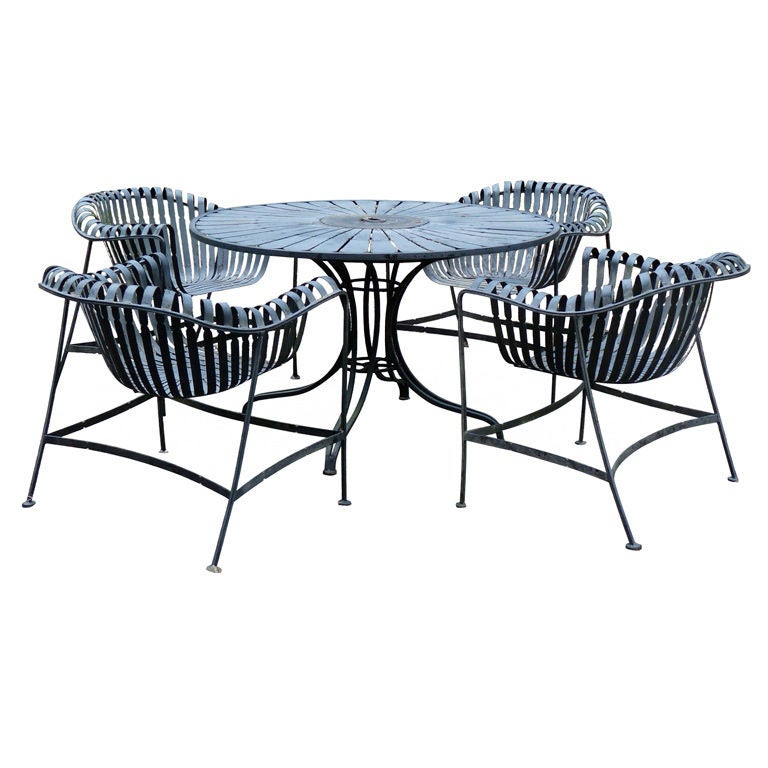 outstanding iron garden patio table and chairs at 1stdibs