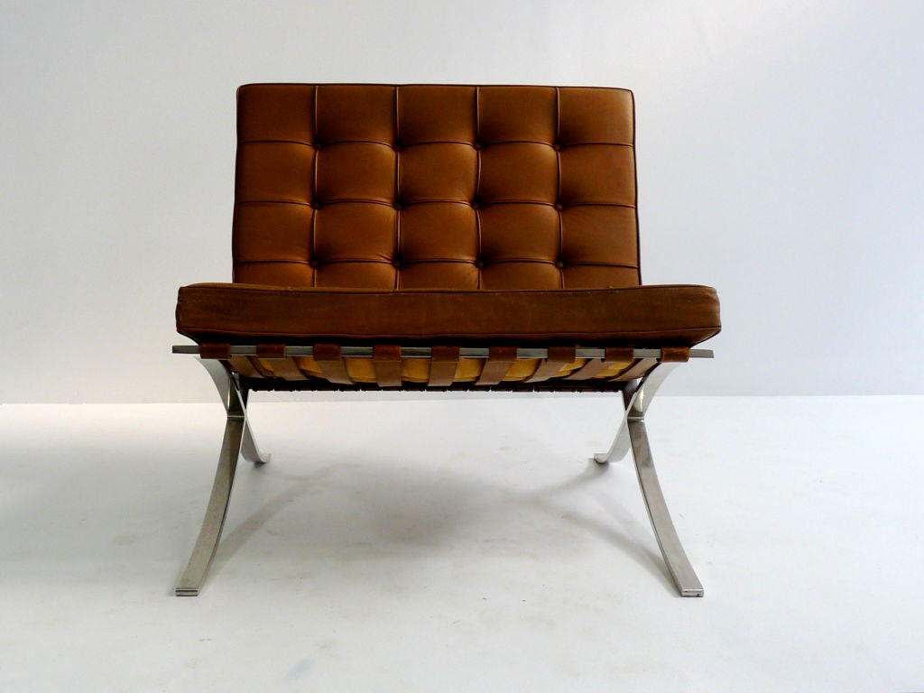 pair mies van der rohe barcelona chairs for knoll at 1stdibs