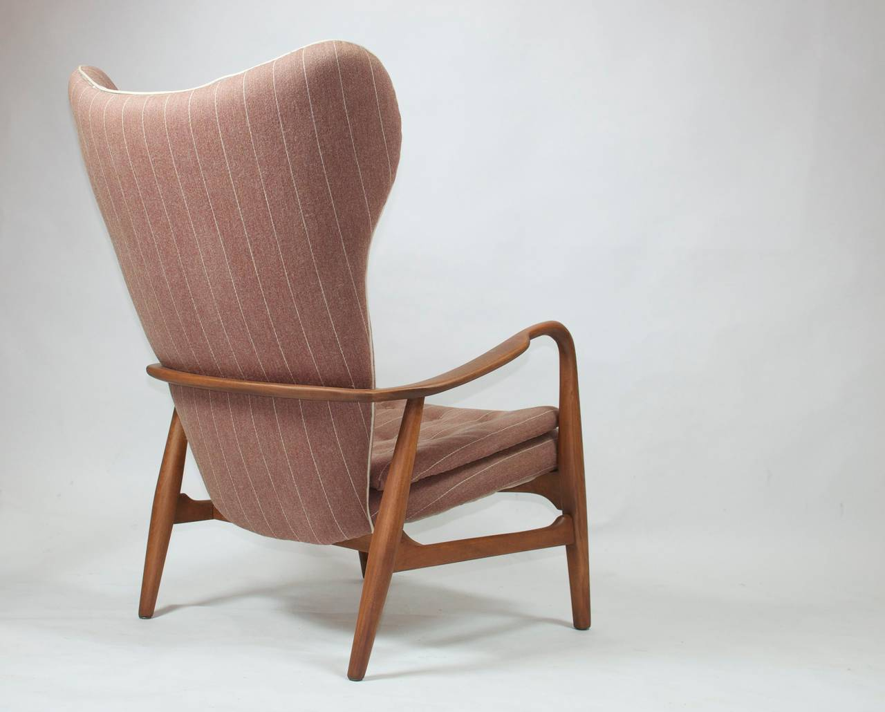 Madsen and Schubell High Back Danish Lounge Chair For Sale at 1stdibs