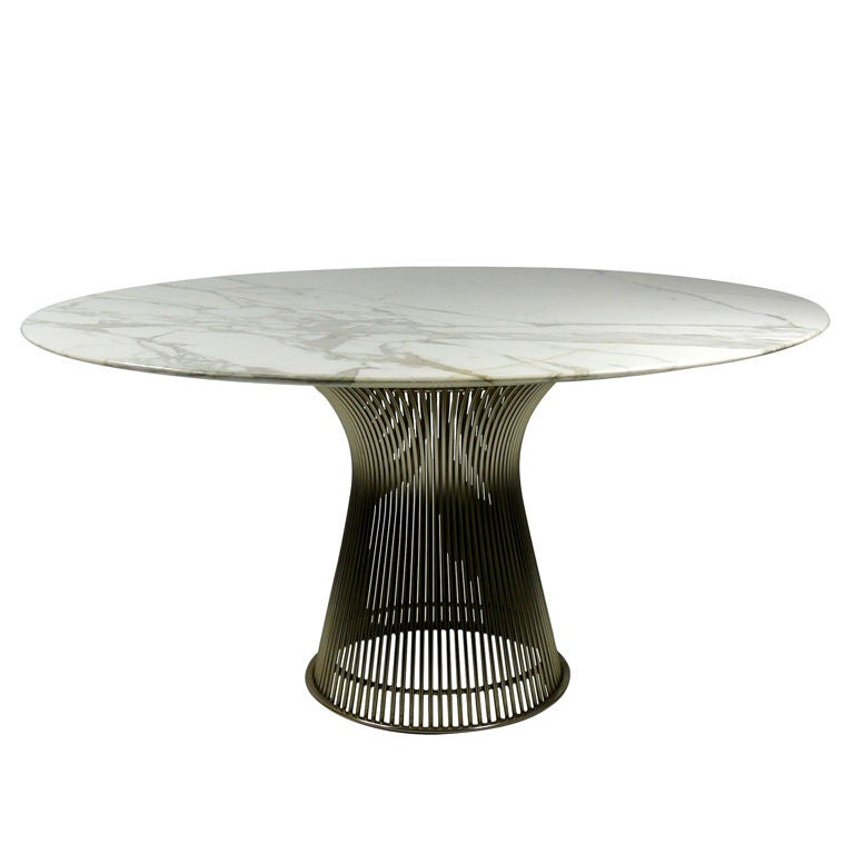 Warren Platner For Knoll Marble Top Dining Table