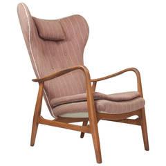 Madsen & Schubell High Back Danish Lounge Chair