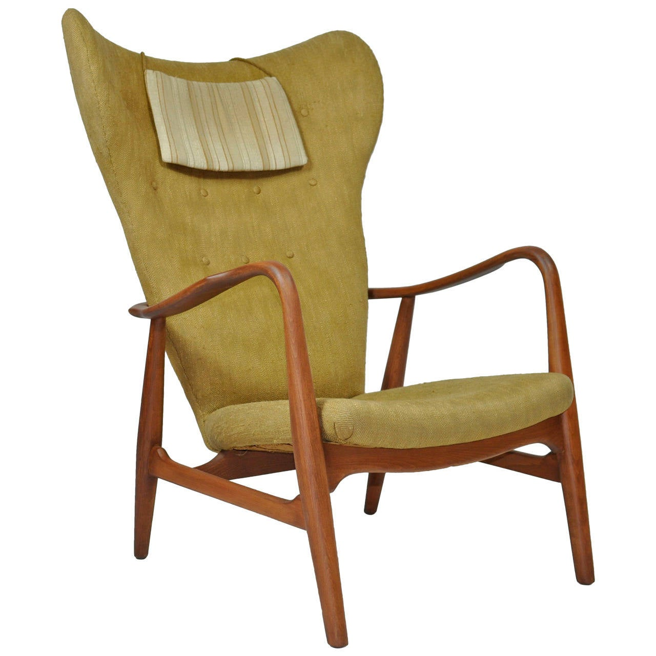 High back lounge chairs - Madsen Schubell High Back Danish Lounge Chair 1