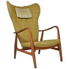 Madsen & Schubell High Back Danish Lounge Chair