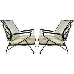 Rare Pair Of Lounge Chairs By Maurizio Tempestini For Salterini