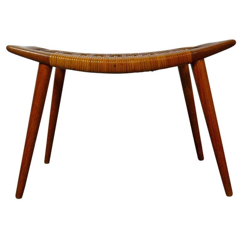 hans wegner cane stool at 1stdibs. Black Bedroom Furniture Sets. Home Design Ideas