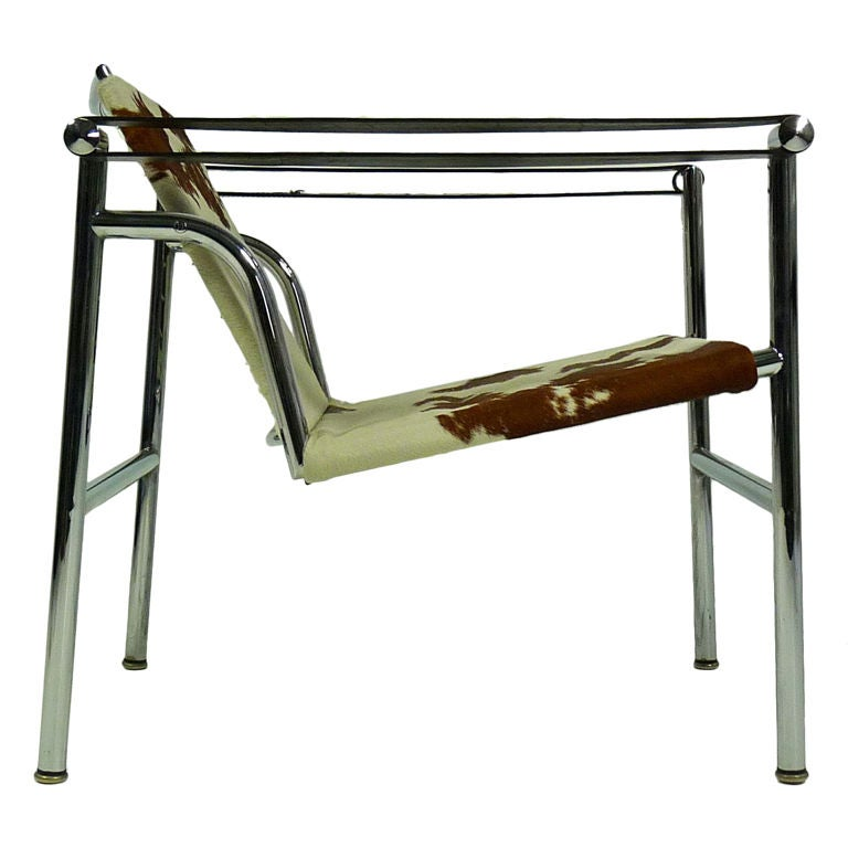 lc1 sling chair by le corbusier mfg by cassina at 1stdibs. Black Bedroom Furniture Sets. Home Design Ideas