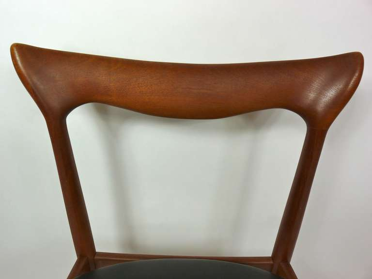 Mid-20th Century Set of Eight Teak Danish Dining Chairs by H. W. Klein For Sale