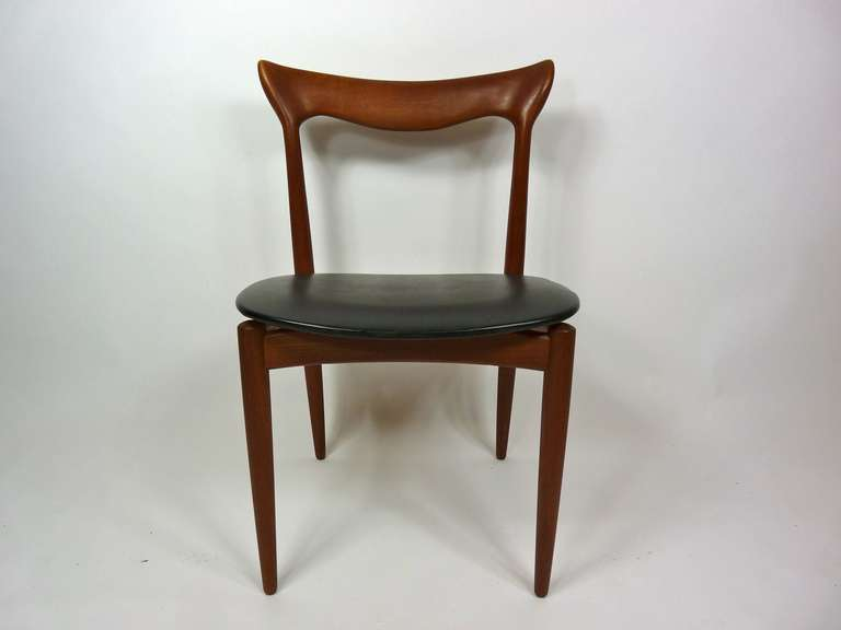 Set of Eight Teak Danish Dining Chairs by H. W. Klein In Good Condition For Sale In Pelham, MA