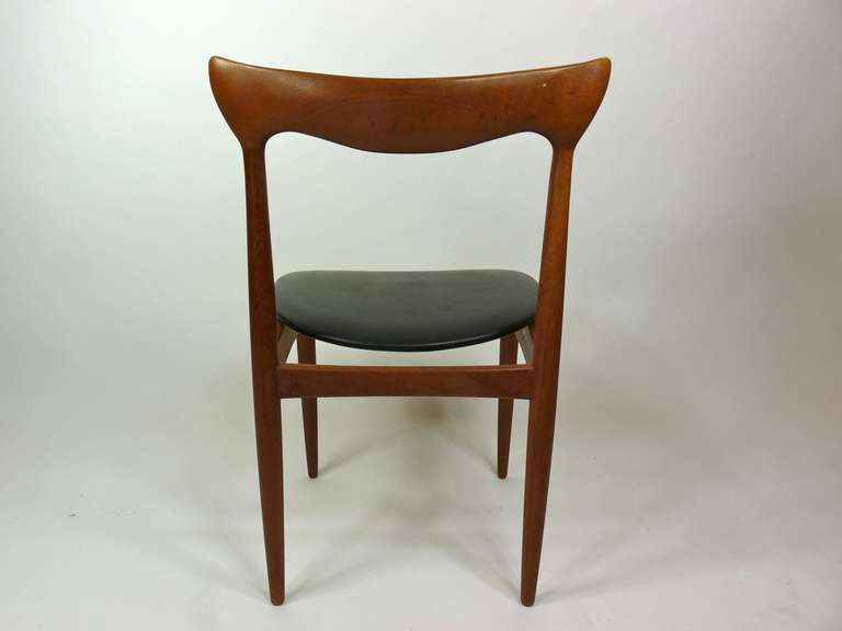 Set of Eight Teak Danish Dining Chairs by H. W. Klein For Sale 3